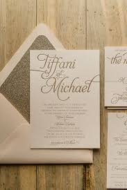 blush and gold wedding invitations suite glitter package blush and gold letterpress wedding