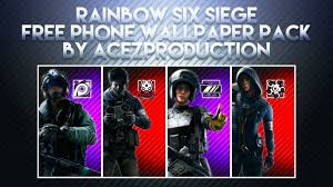 siege free rainbow six siege v2 phone wallpaper pack free dow