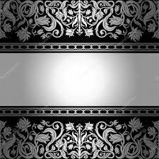 vintage black vintage black background floral antique card silver