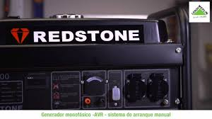 generador gasolina redstone r3800 3300w potencia continua youtube
