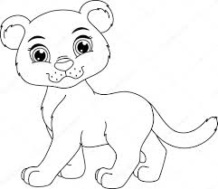 cute panther coloring page u2014 stock vector malyaka 70023121