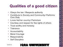 Good Resume Characteristics Characteristics Of Good Citizen2