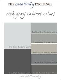 calm coastal paint colors color palette monday collection some the most popular gray paint colors used for painting cabinets vanities