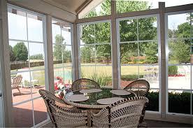 wonderful sun room design interior with glass window and