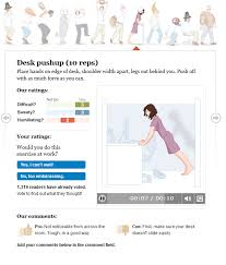 Office Workouts At Your Desk by A Workout At Work 12 Office Exercises Elearning Examples