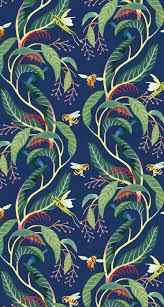 pattern illustration tumblr tatsushi eto illustration tropical pattern bees grasshoppers