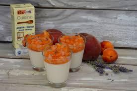la cuisine de pauline almond panna cotta with a apricots and lavender compote