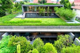 wall house stacked double home in singapore is topped with a