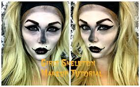 Halloween Skeleton Make Up by Girly Skeleton Halloween Makeup Tutorial Youtube