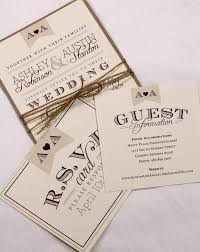 vintage wedding invitation suite sample rustic and vintage