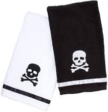 sourpuss clothing skull bathroom hand towel set hand towel sets
