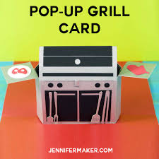 pop up grill card gift card holder for s day maker