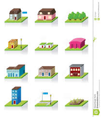 vector building icon 3d illustration royalty free stock