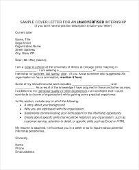 10 job application letter for internship free sample example