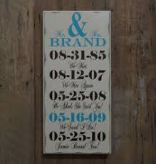 engagement gift from parents important date custom wood sign anniversary gift parents
