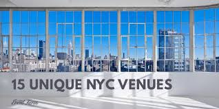 15 unique event venues in nyc