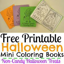 free printable halloween mini coloring books simple made pretty