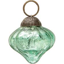mini vintage green mercury glass ornament design hanging