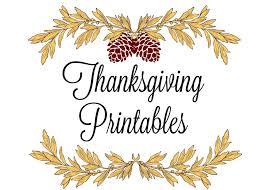 printable thanksgiving place cards menus