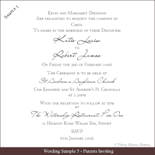 Words For A Wedding Invitation Formal Wedding Invitation Wording Marialonghi Com
