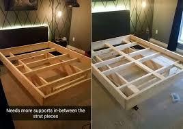 Bed Frame Diy Diy Bed Frame With Lighting 6 Homecrux