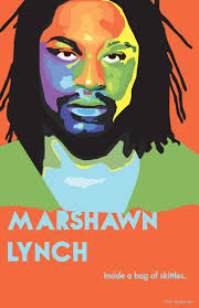 marshawn lynch u0027s face is sectioned into different complementary