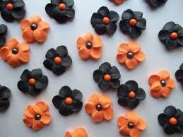 black and orange flowers halloween cake decorations cupcake