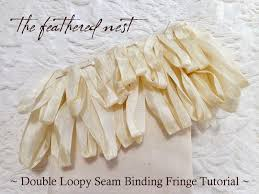 seam binding ribbon the feathered nest a new free tutorial how to create seam