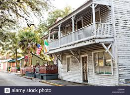 old homes in the historic district in st augustine florida st