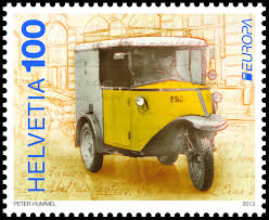 postal vehicles new stamps characterized by culture and nature swiss post