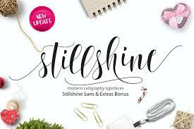 still shine script script fonts creative market
