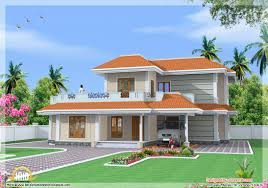 house elevation india house elevation bedroom double storey sq ft kerala home four