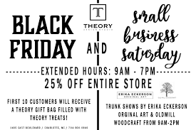 black friday small business saturday sales theory design studio