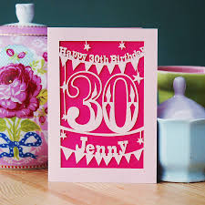 personalised papercut birthday card by pogofandango