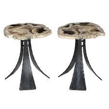 petrified wood table industrial rustic folk side u0026 end tables