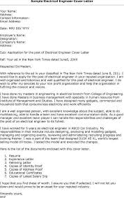 awesome collection of cover letter for fresher electrical engineer