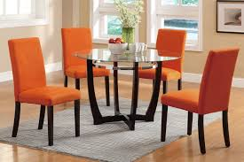 orange fabric dining chair steal a sofa furniture outlet los