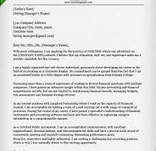 homey inspiration cover letter finance 10 accounting samples cv