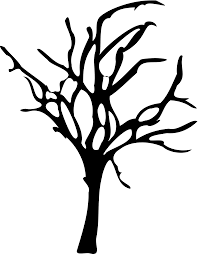 halloween tree clipart black and white clipartxtras