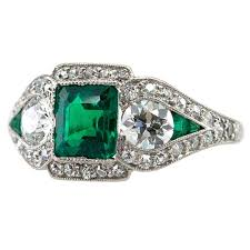 je caldwell art deco emerald ring about