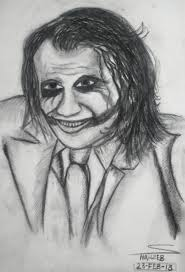 joker charcoal sketching by shaixey on deviantart