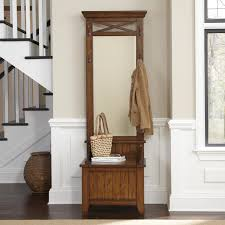 furniture entryway design with hall tree bench and wall art plus