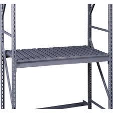 tennsco extra storage rack shelf u2014 72in w x 48in d corrugated