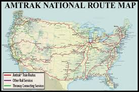 amtrak map usa national route guide and railway information directory