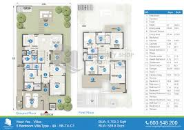 floor plan of west yas villas yas island