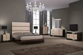 Bedroom Furniture Nyc Modern Beige And Wenge Bed Gu 79 Contemporary Bedroom