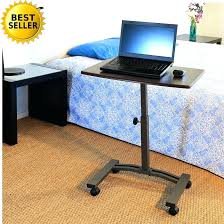 rolling adjustable bedside table rolling table over bed laptop desk cart over bed station table top