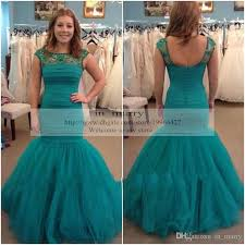 green turquoise evening dresses prom gowns 2015 mermaid