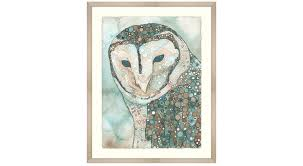 circle furniture masked owl home decor wall art