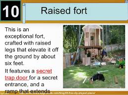 Free DIY Playset Plans For Your Backyard - Backyard fort designs